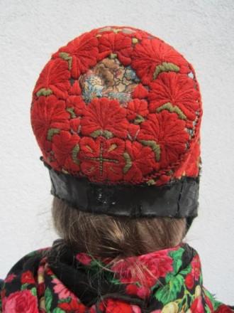 Tracht des Breidenbacher Grundes Obergericht Kopfbedeckung der Frau