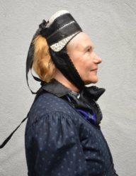Eibacher Tracht Frauentracht Kopfbedeckung Schwarz Seite