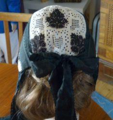 Eibacher Tracht Frauentracht Kopfbedeckung Schwarz