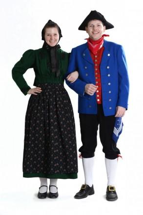 Paar in Hersfelder Tracht