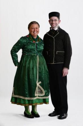Paar in Marburger Katholischer Tracht