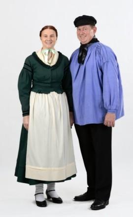 Paar in Rauschenberger Tracht