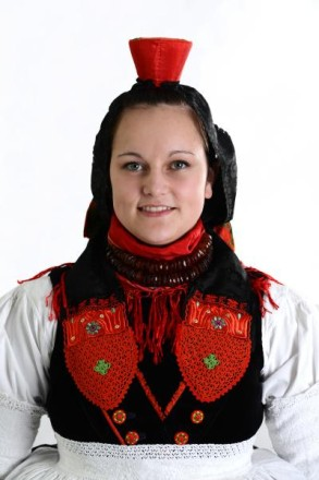 Schwälmer Tracht Halstuch der Frau weitere Fotos