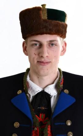 Kopfbedeckung eines Mannes in Schwälmer Tracht