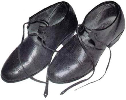 Tracht des Amtes Biedenkopf Schuhe der Frau