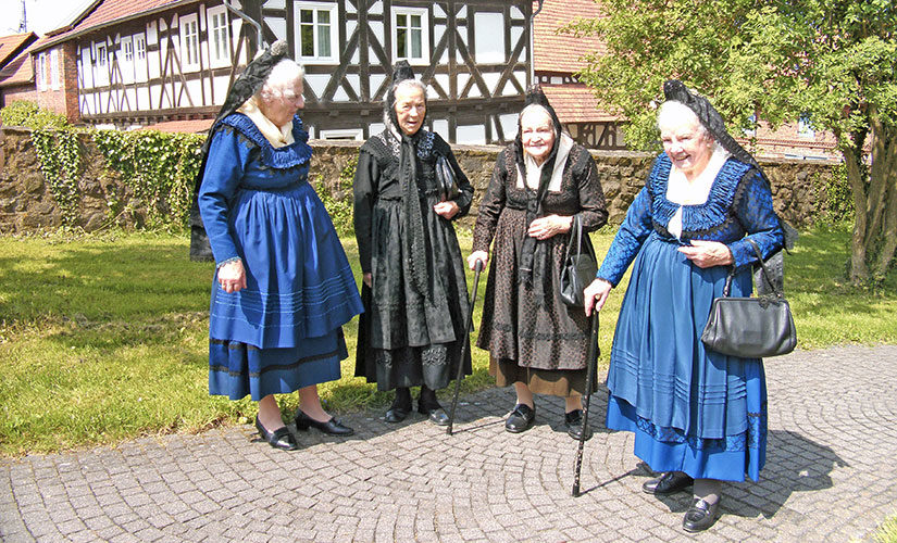 Die Marburger Evangelische Tracht im Jahr 2010